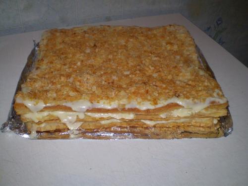 торт наполеон рецепт из магазинного теста